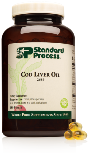 2685 Cod Liver Oil Bottle Perle